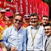 La stèle Robic au km 0 du Tour de France 2012 à Bonsecours