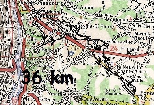 Mes parcours 36 km