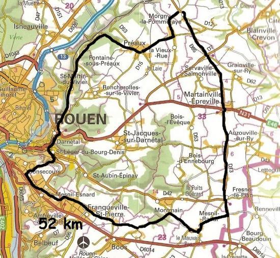 Mes parcours 52 km