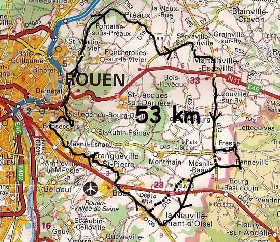 Mes parcours 53 km