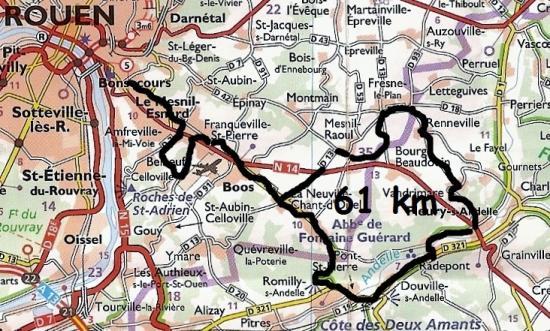 Mes parcours 61 km