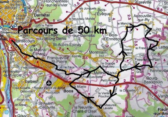 Mes parcours telethon 50 km